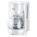 Filter kavni avtomat, moč 1000W, 10-15 skodelic, steklen vrč s pokrovom, enostavna uporaba, prikaz nivoja vode, sistem za preprečevanje kapljanja, samodejni izklop, bele barve.