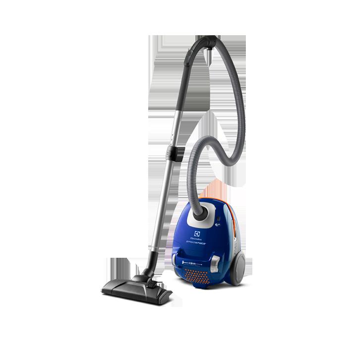 Liten och lätthanterlig dammsugare med hygienfilter